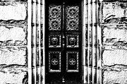 B Digital Art - Monochromatic Doors by Aaron Hernandez