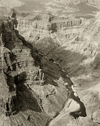 Colorado Framed Prints Posters - Monochrome Colorado River and Grand Canyon Poster by M K  Miller