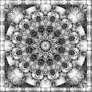 Kaleidoscope Originals - Monochrome Kaleidoscope by Charmaine Zoe