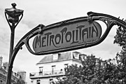 Metropolitain Framed Prints - Monochrome Metropolitain  Framed Print by Georgia Fowler