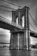 Noir Digital Art - Monochromed Bridge by Sally Morales