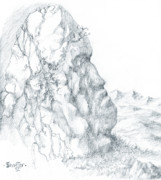Lord Of The Rings Drawings Posters - Monolith 1 Poster by Curtiss Shaffer