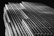 Rockefellercenter Newyorkcity Blackandwhite Metro Urban City Prints - Monolith Print by Mark Giarrusso