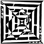Optical Art Originals - Monolith Maze Optical Illusion by Yonatan Frimer Maze Artist