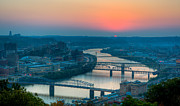 Pittsburgh Framed Prints - Monongahela Morning Framed Print by David Hahn