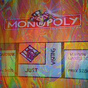 Sparkle Mixed Media Posters - Monopoly dream Poster by Kevin Caudill