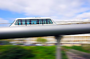 Elevator Framed Prints - Monorail carriage Framed Print by Carlos Caetano