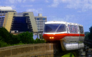 Theme Park Prints - Monorail Print by David Lee Thompson