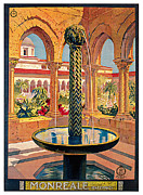 Monreale Posters - Monreale Poster by Vittorio Grassi