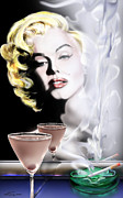 Marilyn Monroe Paintings - Monroe-Seeing Beyond Smoke-N-Mirrors by Reggie Duffie