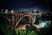 Spokane Falls Prints - Monroe St. Bridge Print by Shirleen Mitchell