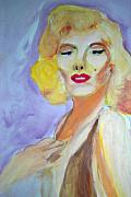 Marylin Paintings - Monroe by Stanley Morganstein