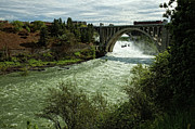 Monroe Photo Metal Prints - Monroe Street Bridge - Spokane Falls Metal Print by Reflective Moments  Photography and Digital Art Images