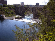 Bridge Photography Prints - Monroe Street Bridge Spokane River Print by Ann Powell