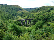 England Framed Prints - Monsal Dale and The Viaduct Framed Print by Rod Johnson