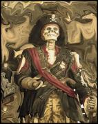 Pirates Mixed Media Framed Prints - Monsieur Lafitte 185 years later Framed Print by Jorge Gaete