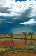 Monsoon Pastels Framed Prints - Monsoon in the Distance Framed Print by Jackie Novak