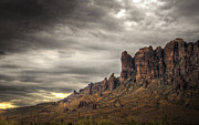 The Supes Prints - Monsoon in the Superstitions  Print by Saija  Lehtonen