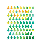 Blue Posters - Monsoon Rain Poster by Budi Satria Kwan
