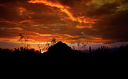 Arizona Sunset Photos - Monsoon Sunset  by Saija  Lehtonen