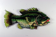 Smallmouth Bass Sculptures - Monster Bass by Bob Crawford