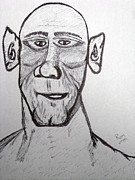 Face Prints Drawings - Monster Tom And His Radar Ears by Robert Margetts