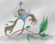 Monster Tree Print by Sebopo Art
