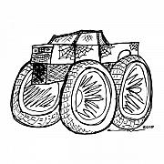 Monster Truck Print by Karl Addison