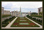 Belgium Photos - Mont des Arts towards the Grand Place by Carol Groenen