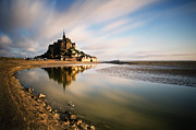 Medieval Posters - Mont Saint Michel Poster by copyright Ian Bramham Photography