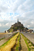 Road Travel Prints - Mont Saint Michel Print by Elena Elisseeva