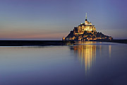Medieval Metal Prints - Mont Saint-michel, France Metal Print by David Min