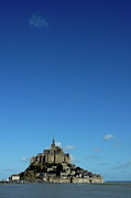 Middle Ages Prints - Mont Saint-Michel in France Print by Sami Sarkis