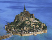 Historic Site Paintings - Mont Saint Michel by Philippe Plouchart
