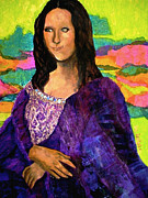 Masterpiece Mixed Media Prints - Montage Mona Lisa Print by Laura  Grisham