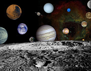 Neptune Prints - Montage Of The Planets And Jupiters Print by Stocktrek Images