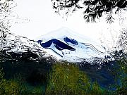 Mountains Mixed Media - Montagne Verde ALberi by Robert OP Parrish