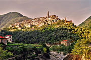 Wolken Metal Prints - Montalto Ligure - Italy Metal Print by Juergen Weiss