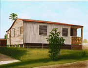 Puerto Rico Paintings - Montalvo Family House-Puerto Rico by Robin Capecci