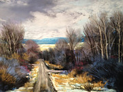 Winter Roads Originals - Montana Back Road by Bonnie Zahn  Griffith