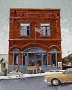 Roads Paintings - Montana Bank by Steve Beaumont