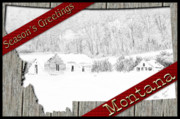 Montana Digital Art - Montana Christmas by Susan Kinney
