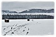 Montana Ice Fishing Print by Janie Johnson