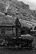 Log Cabin Art Prints - Montana Log Cabin Print by Joseph Noonan