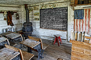Old School House Photo Prints - Montana School Lesson August 29 1864 Print by Daniel Hagerman