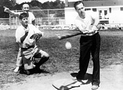 Baseball Bat Photo Metal Prints - Montana Senator Mike Mansfield Metal Print by Everett