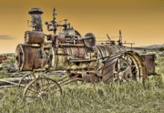 Antiquated Digital Art Prints - Montana Steam Punk - Nevada City Ghost Town Print by Daniel Hagerman