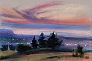 City Pastels Posters - Montana Sunset Poster by Donald Maier