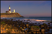 Long Island New York Prints - Montauk Lighthouse Print by William Jobes