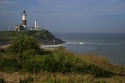 Long Framed Prints - Montauk Point Framed Print by Christopher Kirby